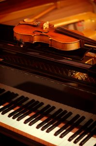 Violin and piano used for classical music